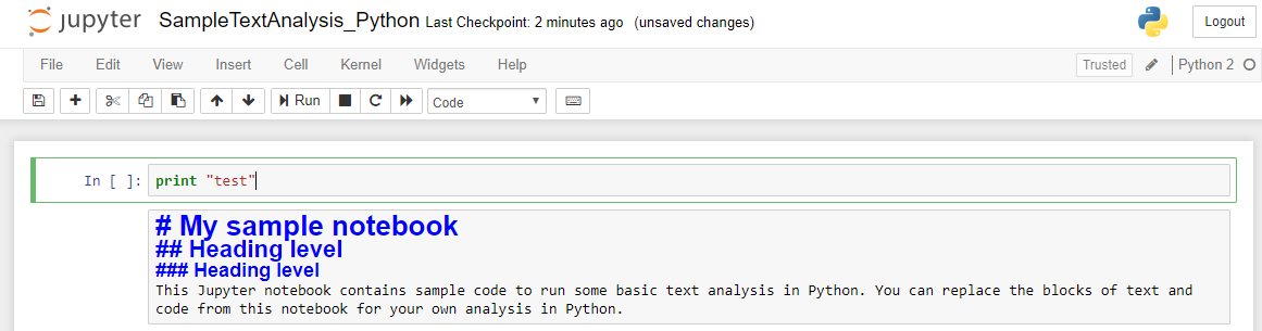 Working with Jupyter notebooks #code – Shibani's blog